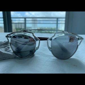 Dior SoReal Sunglasses Silver (Authentic)